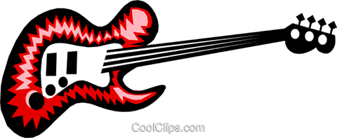 electric guitar Royalty Free Vector Clip Art illustration arts0404