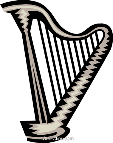 harp Royalty Free Vector Clip Art illustration arts0405