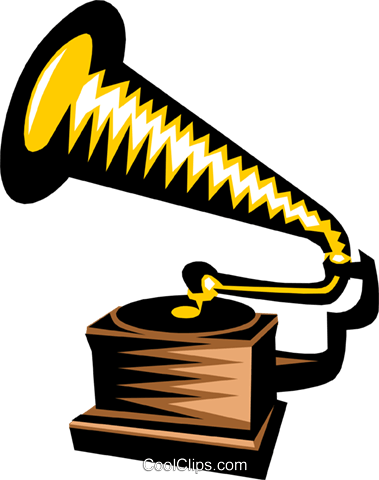 gramophone Royalty Free Vector Clip Art illustration arts0410