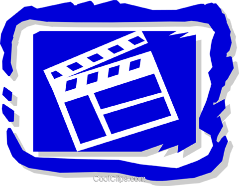 clapboard symbol Royalty Free Vector Clip Art illustration arts0415