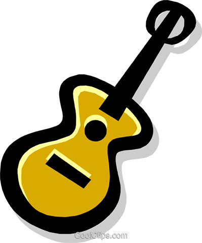 guitar Royalty Free Vector Clip Art illustration arts0418