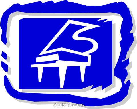 piano Royalty Free Vector Clip Art illustration arts0420