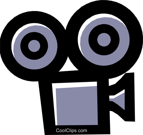 motion picture movie camera Royalty Free Vector Clip Art illustration arts0423
