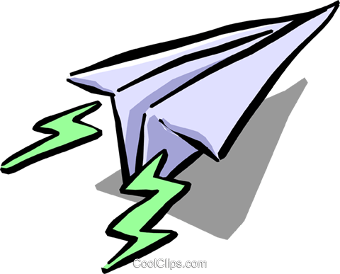 paper airplane Royalty Free Vector Clip Art illustration busi1078