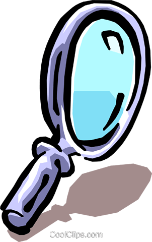 magnifying glass Royalty Free Vector Clip Art illustration busi1084
