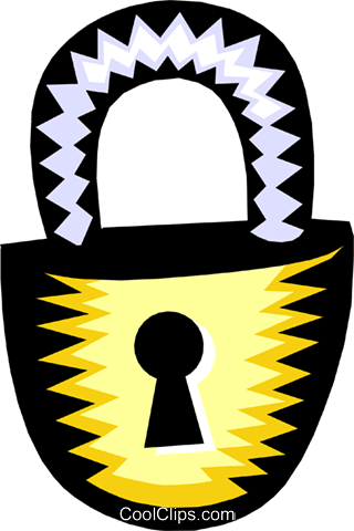 key lock Royalty Free Vector Clip Art illustration busi1095