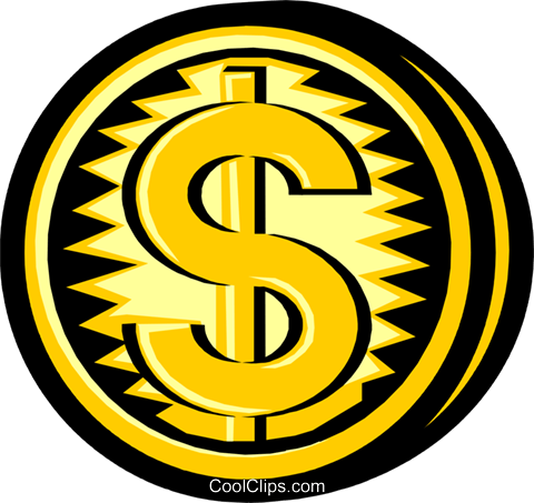 coins Royalty Free Vector Clip Art illustration busi1099