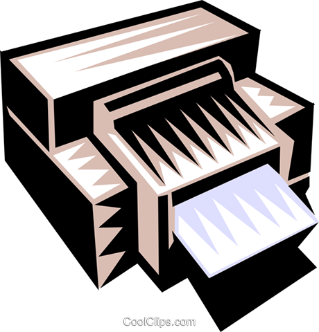 printer Royalty Free Vector Clip Art illustration busi1106