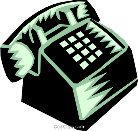telephone Royalty Free Vector Clip Art illustration busi1108