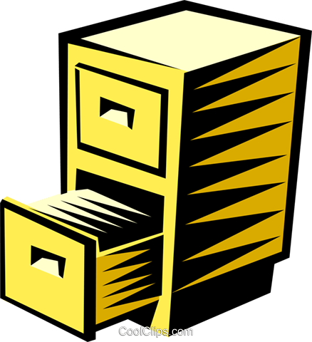 Filing cabinet Royalty Free Vector Clip Art illustration busi1110