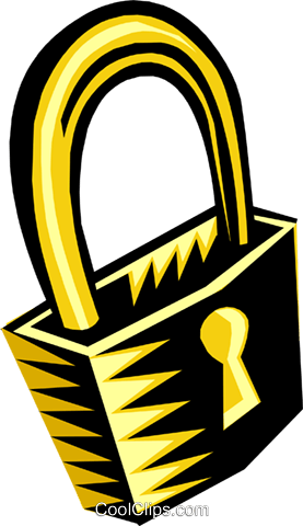 lock Royalty Free Vector Clip Art illustration busi1113