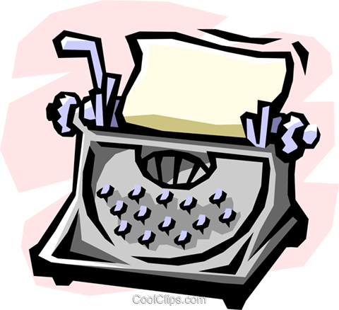 typewriter Royalty Free Vector Clip Art illustration busi1131