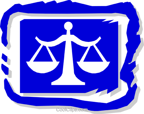 scales of justice Royalty Free Vector Clip Art illustration busi1139