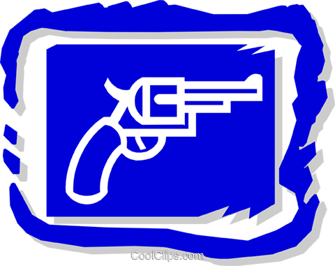 handgun Royalty Free Vector Clip Art illustration busi1141