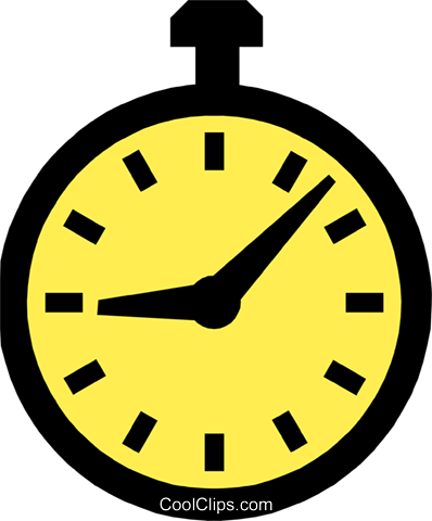 clock Royalty Free Vector Clip Art illustration busi1145