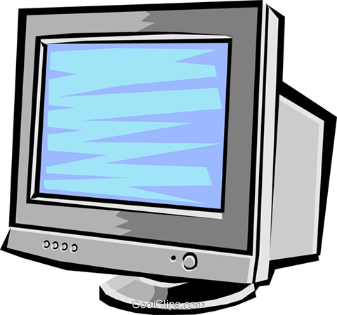 Computer monitor Royalty Free Vector Clip Art illustration busi1147
