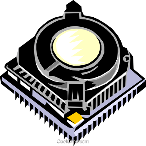 microprocessor chip Royalty Free Vector Clip Art illustration busi1148
