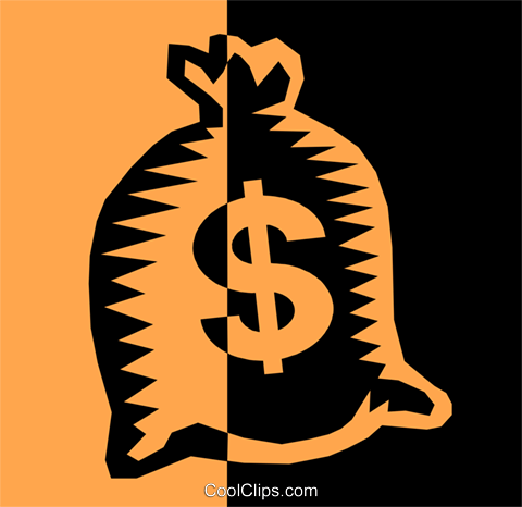 money bag Royalty Free Vector Clip Art illustration busi1153