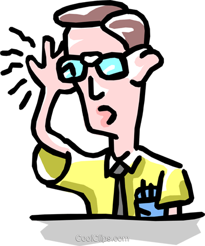 man holding glasses Royalty Free Vector Clip Art illustration cart1853