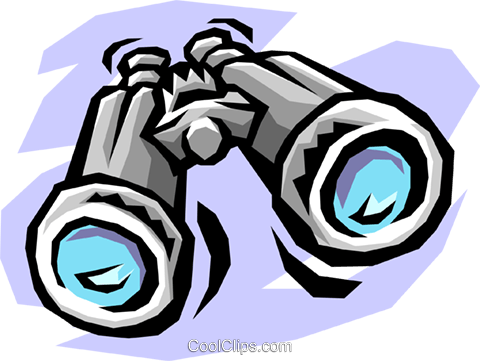 binoculars Royalty Free Vector Clip Art illustration hous0959