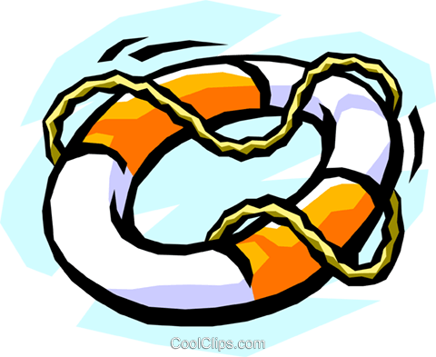 life preserver Royalty Free Vector Clip Art illustration tran0623