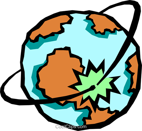 globe Royalty Free Vector Clip Art illustration worl0683