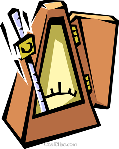 metronome Royalty Free Vector Clip Art illustration arts0428