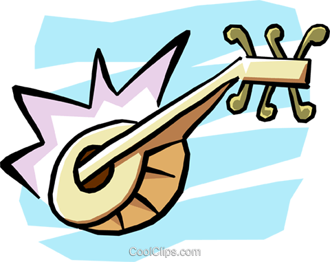 mandolin Royalty Free Vector Clip Art illustration arts0431