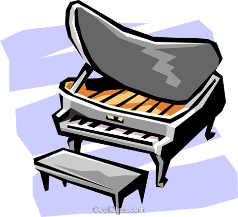 piano Royalty Free Vector Clip Art illustration arts0432