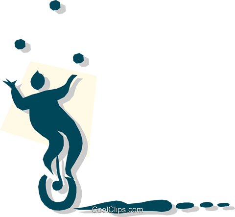 person juggling Royalty Free Vector Clip Art illustration cart1861