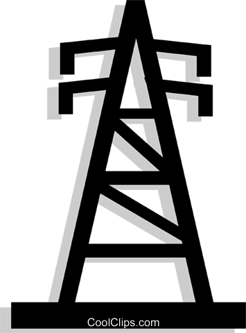 hydro tower Royalty Free Vector Clip Art illustration envi0194