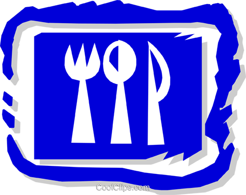 knife, fork, spoon Royalty Free Vector Clip Art illustration hous0967