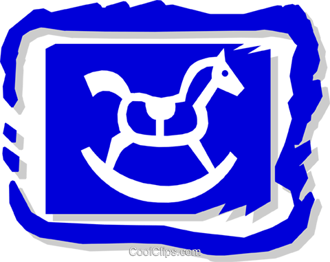 rocking horse Royalty Free Vector Clip Art illustration hous0968