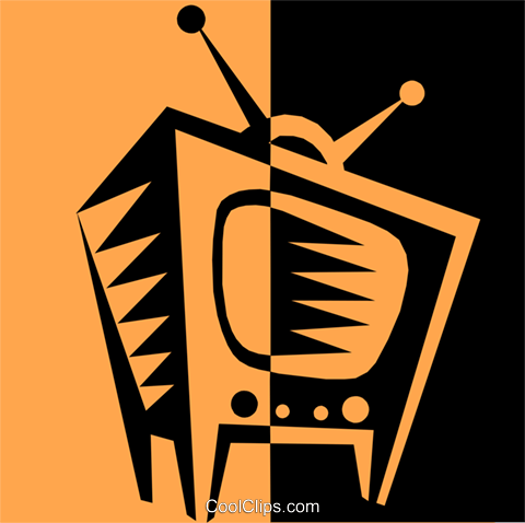 television Royalty Free Vector Clip Art illustration hous0974