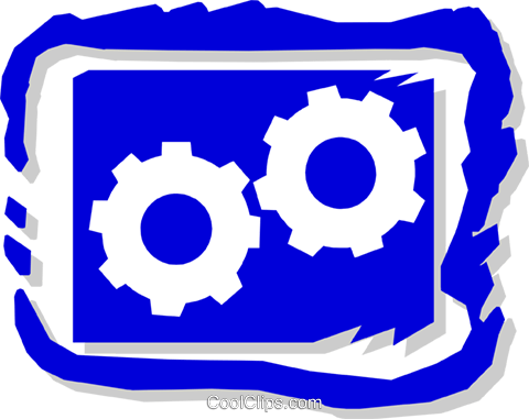industry, gears Royalty Free Vector Clip Art illustration indu0689