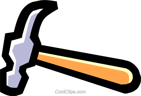 hammer Royalty Free Vector Clip Art illustration indu0700