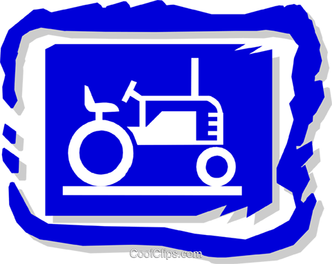 tractor Royalty Free Vector Clip Art illustration indu0701