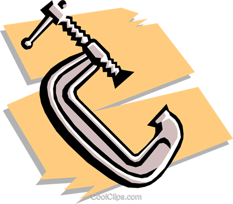 clamp Royalty Free Vector Clip Art illustration indu0709