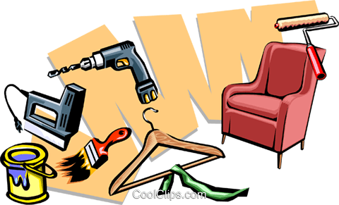 tools around the home Royalty Free Vector Clip Art illustration indu0715