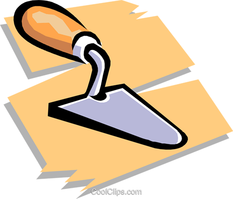 trowel Royalty Free Vector Clip Art illustration indu0723