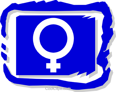 female symbol Royalty Free Vector Clip Art illustration medi0311