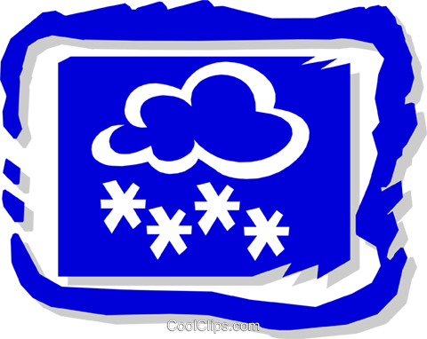 Clouds and snow Royalty Free Vector Clip Art illustration natu0665