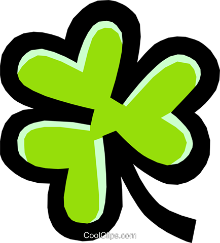shamrock Royalty Free Vector Clip Art illustration natu0674