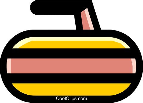 curling rock Royalty Free Vector Clip Art illustration spor0204