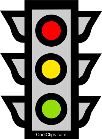 Traffic Light Vektor Clipart Bild tran0638