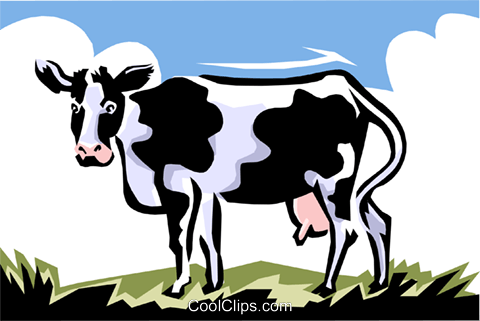 cow Royalty Free Vector Clip Art illustration anim1450