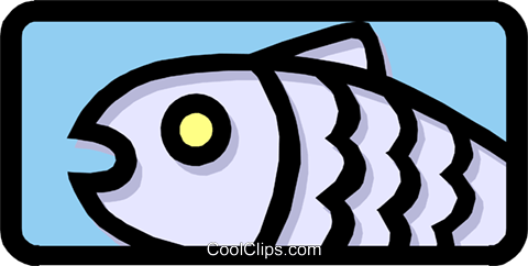 Fish Royalty Free Vector Clip Art illustration anim1451
