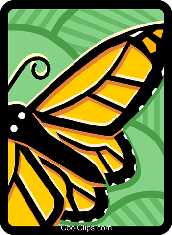 butterfly Royalty Free Vector Clip Art illustration anim1457