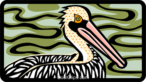pelican Royalty Free Vector Clip Art illustration anim1460