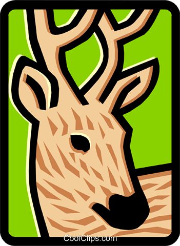 deer Royalty Free Vector Clip Art illustration anim1472